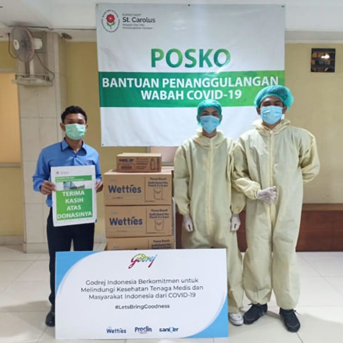 Godrej Indonesia donates products proven effective against corona virus to 74 hospitals